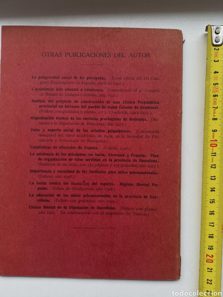 Libros antiguos: Libro La asistencia de los psicópatas ya la beneficencia de 1930. Dr. Tomás Buquet Teixidor. - Foto 4 - 223716752