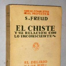 Libros antiguos: EL CHISTE Y SU RELACION CON LO INCONSCIENTE. Lote 224589013