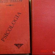 Libros antiguos: LOTE DE 2 LIBROS PSICOLOGIA AÑO 1893. Lote 227550295