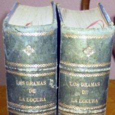 Libros antiguos: LOS DRAMAS DE LA LOCURA (MISTERIOS DEL MANICOMIO ) TOMOS I Y II 1888-89. Lote 229479310