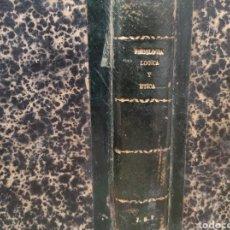 Libros antiguos: 1870. CURSO DE FILOSOFÍA ELEMENTAL. TRATADO DE PSICOLOGÍA. DON JOSÉ MORENO CASTELLÓ. Lote 233151270