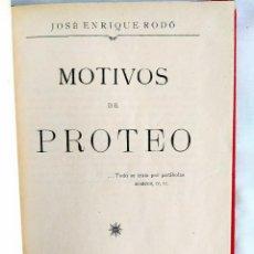 Libros antiguos: [1910?] - RODÓ: MOTIVOS DE PROTEO. Lote 242150875