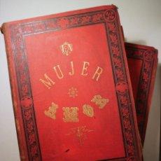 Libros antiguos: CASTILLO, RAFAEL DEL - LA MUJER - AMOR - BARCELONA 1881 ( 2 VOL. - COMPLETO) - MUY ILUSTRADO. Lote 257829300