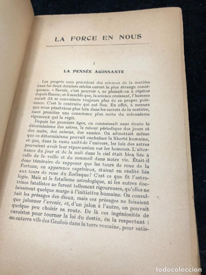 Libros antiguos: LA FORCE EN NOUS, par CHARLES BAUDOUIN. 1923 Societé Iorraine de Psychologie Appliquée-Nancy - Foto 4 - 262246425