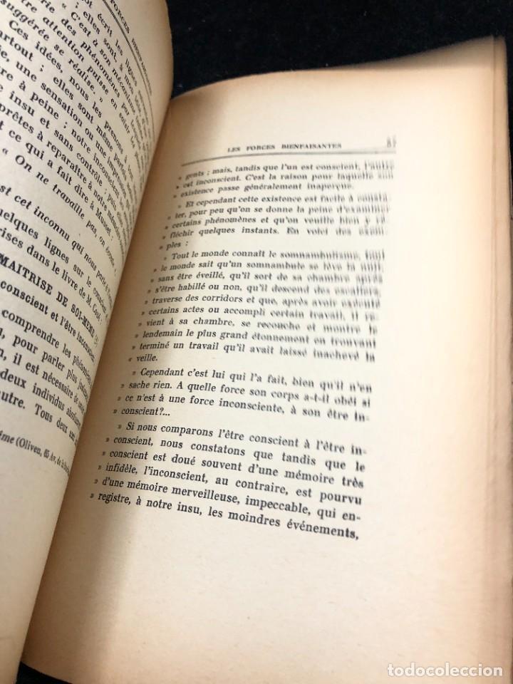 Libros antiguos: LES FORCES BIENFAISANTES. A. Villeneuve. Editions Oliven. 1926. francés. - Foto 4 - 262247150