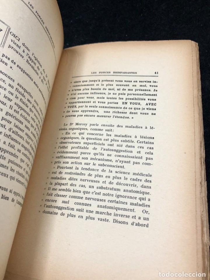Libros antiguos: LES FORCES BIENFAISANTES. A. Villeneuve. Editions Oliven. 1926. francés. - Foto 5 - 262247150