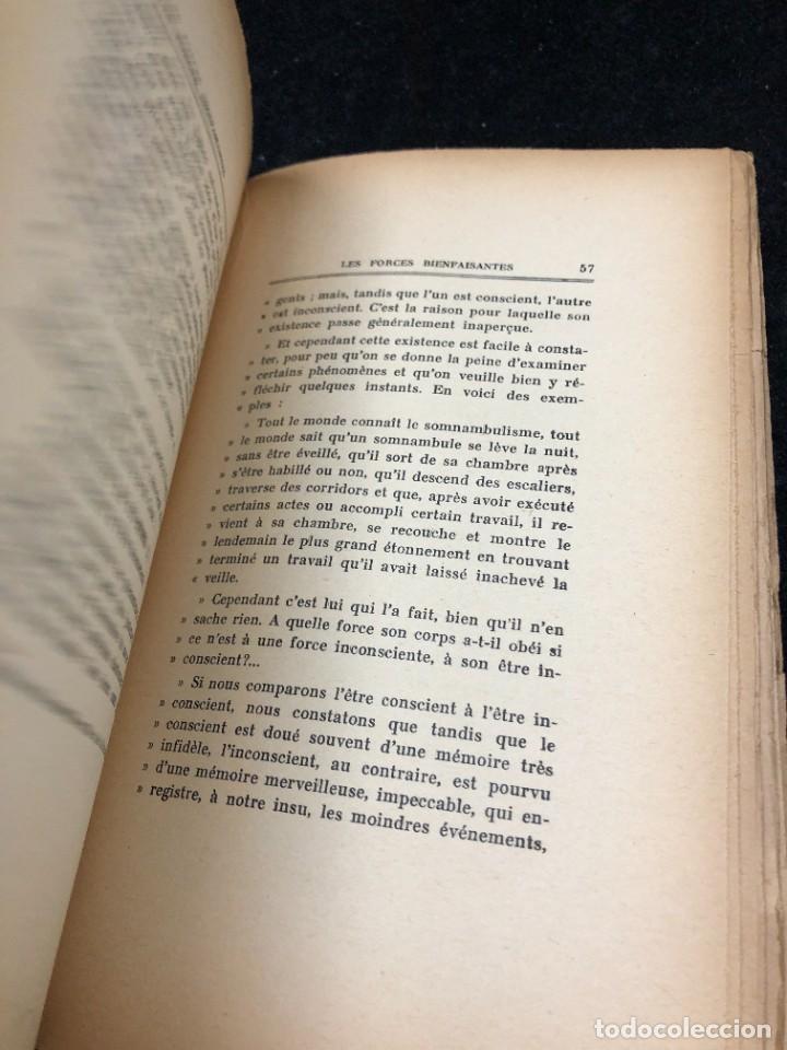 Libros antiguos: LES FORCES BIENFAISANTES. A. Villeneuve. Editions Oliven. 1926. francés. - Foto 6 - 262247150