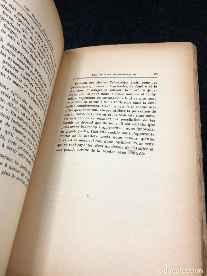 Libros antiguos: LES FORCES BIENFAISANTES. A. Villeneuve. Editions Oliven. 1926. francés. - Foto 7 - 262247150