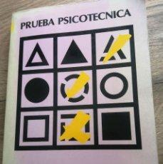 Libros antiguos: PRUEBA PSICOTÉCNICA. Lote 262671810