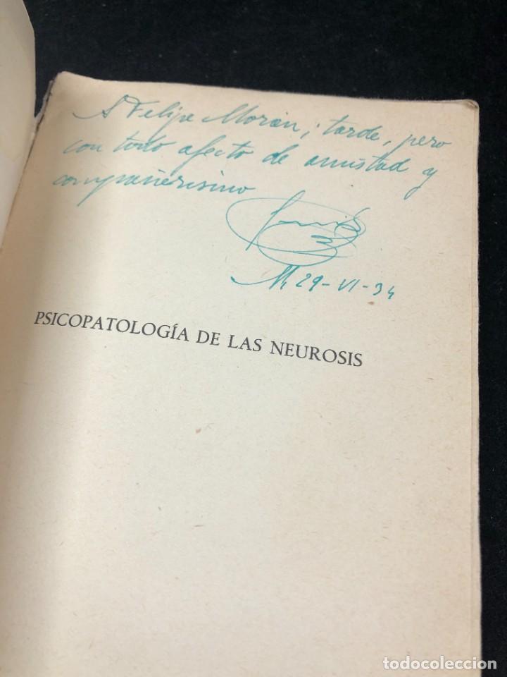 Libros antiguos: Psicopatología De Las Neurosis. Angel Suils Editorial España 1933. Dedicatoria y firma del autor - Foto 2 - 262991785