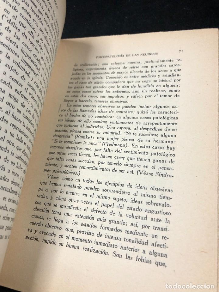 Libros antiguos: Psicopatología De Las Neurosis. Angel Suils Editorial España 1933. Dedicatoria y firma del autor - Foto 9 - 262991785