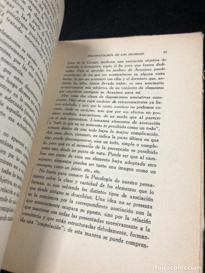 Libros antiguos: Psicopatología De Las Neurosis. Angel Suils Editorial España 1933. Dedicatoria y firma del autor - Foto 11 - 262991785
