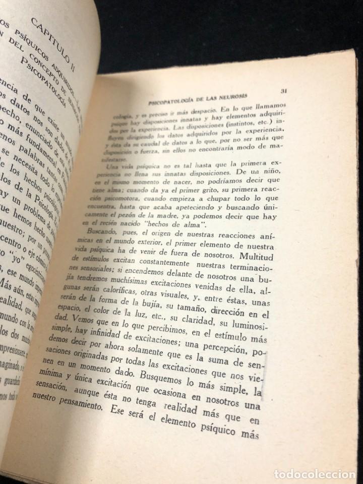 Libros antiguos: Psicopatología De Las Neurosis. Angel Suils Editorial España 1933. Dedicatoria y firma del autor - Foto 12 - 262991785
