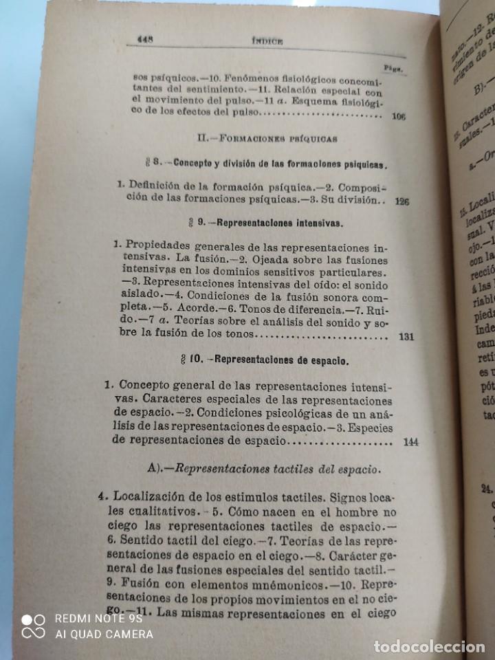 Libros antiguos: COMPENDIO DE PSICOLOGIA POR GUILLERMO WUNDT Madrid Ed. LA ESPAÑA MODERNA Circa 1900 Unico TC - Foto 8 - 142707686