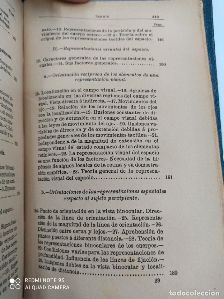 Libros antiguos: COMPENDIO DE PSICOLOGIA POR GUILLERMO WUNDT Madrid Ed. LA ESPAÑA MODERNA Circa 1900 Unico TC - Foto 9 - 142707686