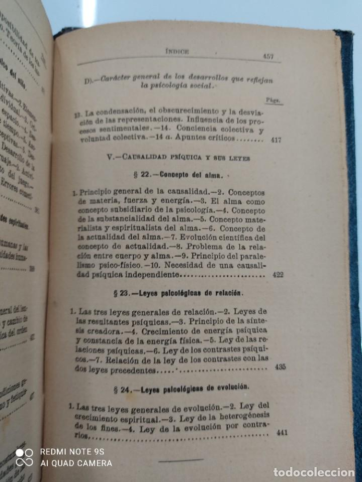Libros antiguos: COMPENDIO DE PSICOLOGIA POR GUILLERMO WUNDT Madrid Ed. LA ESPAÑA MODERNA Circa 1900 Unico TC - Foto 17 - 142707686