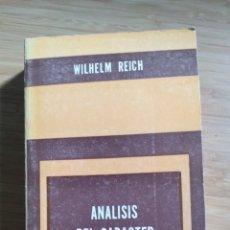 Libros antiguos: ANALISIS DEL CARACTER - WILHELM REICH. Lote 268738759