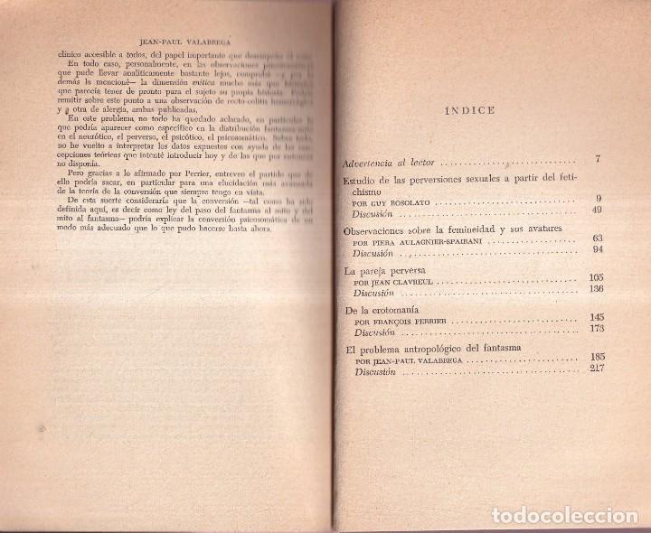 Libros antiguos: EL DESEO Y LA PERVERSIÓN - CLAVREUL, VALABREGA, ROSOLATO, VVAA - EDITORIAL SUDAMERICANA 1968 - Foto 2 - 280195708
