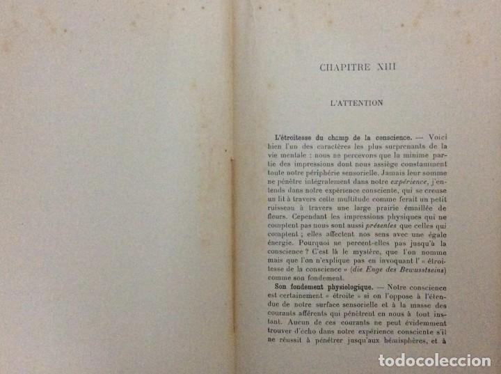 Libros antiguos: Précis de Psychologie, Por William James/ B. Baudin y G. Bertier, 1932. Muy escaso - Foto 8 - 284837013
