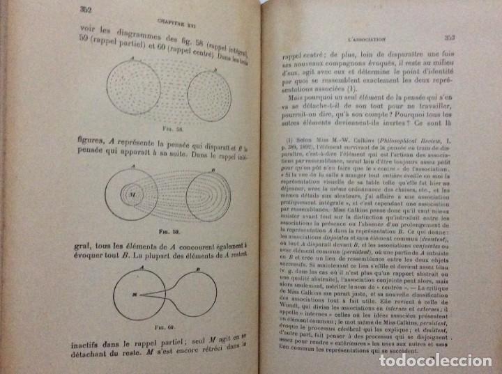Libros antiguos: Précis de Psychologie, Por William James/ B. Baudin y G. Bertier, 1932. Muy escaso - Foto 9 - 284837013