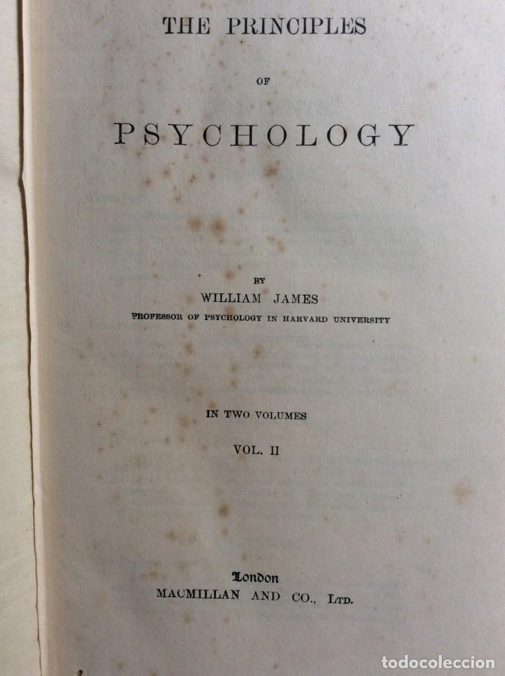 Libros antiguos: The Principles of Psychology. William James, 1918. Ilustrado. En inglés. Muy raro. Salida a 1 € - Foto 3 - 286722628