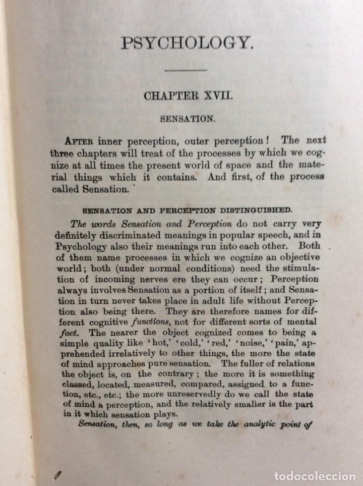 Libros antiguos: The Principles of Psychology. William James, 1918. Ilustrado. En inglés. Muy raro. Salida a 1 € - Foto 4 - 286722628