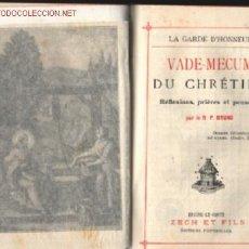 Libros antiguos: VADE - MECUM DU CHRETIEN REFLEXONES .. MINI MISAL .. BRUNO 1921 . Lote 15017960