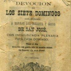 Libros antiguos: LIBRO DE LA DEVOCION DE LOS SIETE DOMINGOS. RELIGION. BARCELON 1890. Lote 3392163