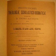 Libros antiguos: SCHOLASTICO-DOGMATICAE, 1897. Lote 25018184