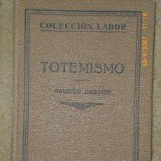 Libros antiguos: TOTEMISMO. Lote 19487440