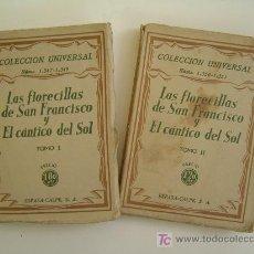 Libros antiguos: LAS FLORECILLAS DE SAN FRANCISCO Y CANTICO AL SOL. Lote 183005266