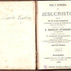 Libros antiguos: VIDA Y DOCTRINA DE JESUCRISTO.. Lote 17755422