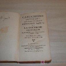 Libros antiguos: CATECHISME HISTORIQUE L HISTOIRE SAINTE ET LA DOCTRINE CHRETIENNE ,AÑO MDCCLIV A PARIS 30 GRABADOS. Lote 26922180