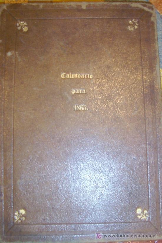 AÑO 1865 CALENDARIO PIADOSO POR MIGUEL MARTINEZ Y SANZ (Libros Antiguos, Raros y Curiosos - Religión)