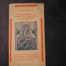 Libros antiguos: NOVENA BREVE A NTRA. SRA. DEL PERPETUO SOCORRO. Lote 20405312