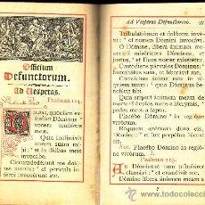 Libri antichi: OFFICIUM DEFUNCTORUM. Lote 8984329