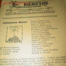 Libros antiguos: MENPHIS. ORGANO DE LABOR MASÓNICA. MASONERIA. Lote 27116469