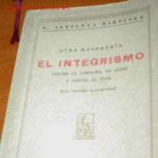 Libros antiguos: 1930.- OTRA MASONERIA. Lote 26676045