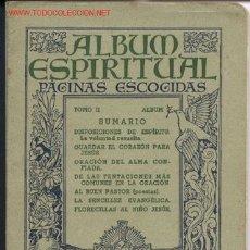 Libros antiguos: ALBUM ESPIRITUAL. Lote 30379575