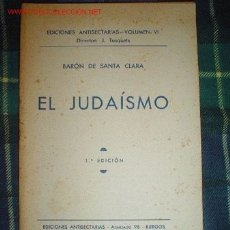 Libros antiguos: 1938- EL JUDAISMO. Lote 27015409