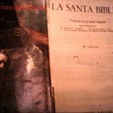Libros antiguos: SANTA BIBLIA. Lote 1832075
