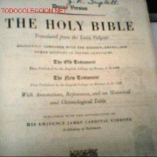Alte Bücher - THE HOLY BIBLE. (LA SAGRADA BIBLIA. EN INGLES. ) ANTIGUO Y NUEVO TESTAMENTO - 1832140