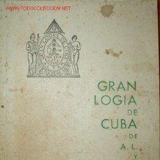Libros antiguos: GRAN LOGIA DE CUBA. Lote 27437949
