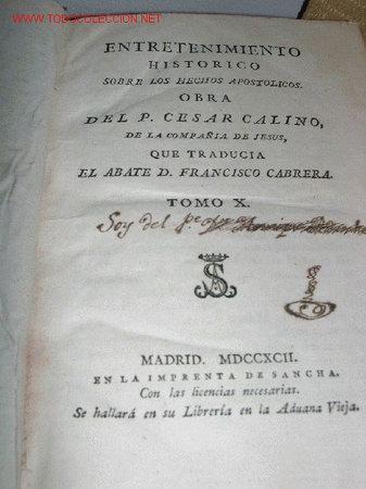 LIBRO RELIGIOSO S.XVIII (Libros Antiguos, Raros y Curiosos - Religión)