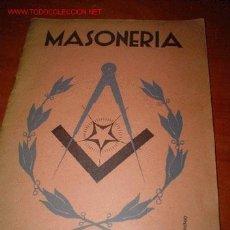 Libros antiguos: 1929.- LA MASONERIA. Lote 27061971