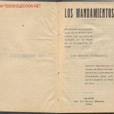 Libros antiguos: LOS MANDAMIENTOS POR UN PADRE DE LA COMPAÑIA DE JESÚS -AÑO 1914. Lote 26398830