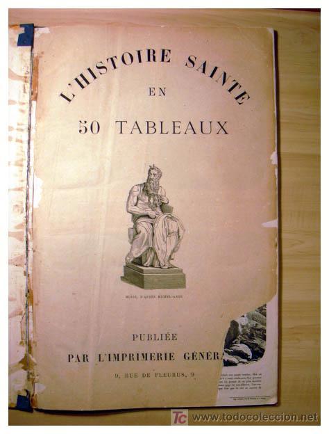 Libros antiguos: EL ANTIGUO Y NUEVO TESTAMENTO EN 100 CUADROS 1880 IMPRESIONANTES DIMENSIONES 52CM X 33CM - Foto 2 - 26947516