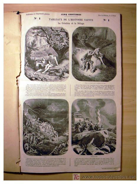 Libros antiguos: EL ANTIGUO Y NUEVO TESTAMENTO EN 100 CUADROS 1880 IMPRESIONANTES DIMENSIONES 52CM X 33CM - Foto 3 - 26947516