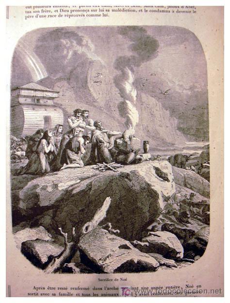 Libros antiguos: EL ANTIGUO Y NUEVO TESTAMENTO EN 100 CUADROS 1880 IMPRESIONANTES DIMENSIONES 52CM X 33CM - Foto 4 - 26947516