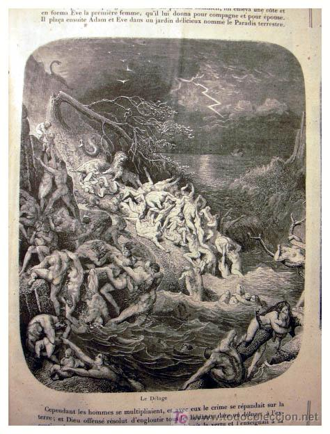 Libros antiguos: EL ANTIGUO Y NUEVO TESTAMENTO EN 100 CUADROS 1880 IMPRESIONANTES DIMENSIONES 52CM X 33CM - Foto 5 - 26947516